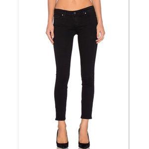 Paige Verdugo Ultra Skinny Black Overdye Jeans 28